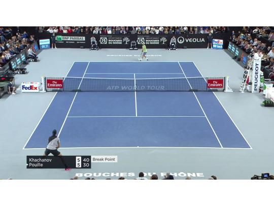 Highlights from Khachanov v. Pouille
