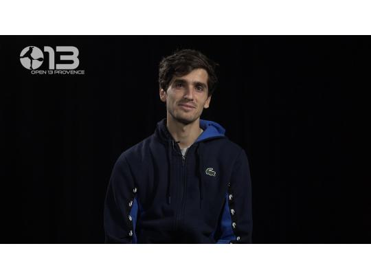 PLAYER'S BOX WITH PIERRE-HUGUES HERBERT