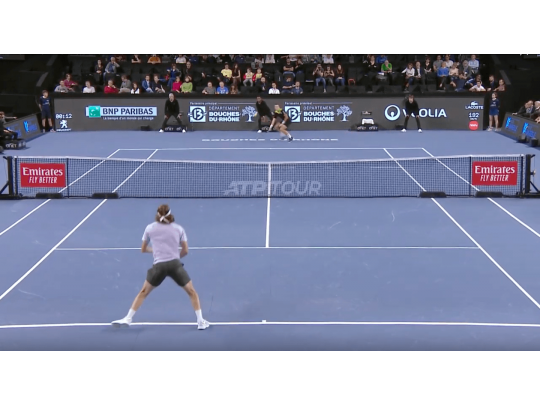 HIGHLIGHTS POSPISIL VS TSITSIPAS