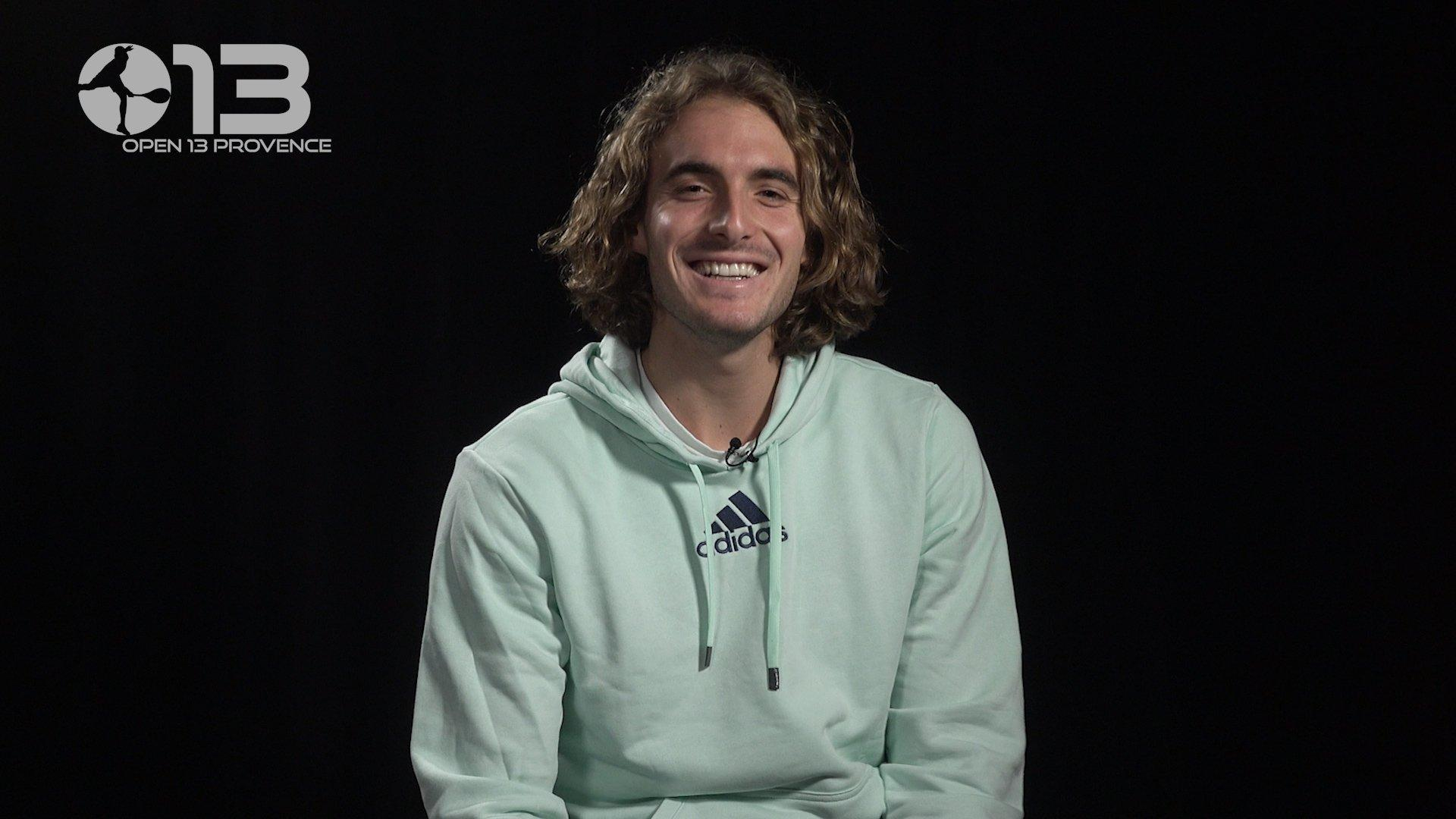 PLAYER'S BOX WITH STEFANOS TSITSIPAS